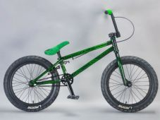 Madmain 18 Green Crackle - complete Mafia BMX Bike